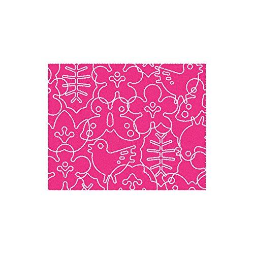 NOTNEUTRAL Season Area Rug Pink White, 4 x 5