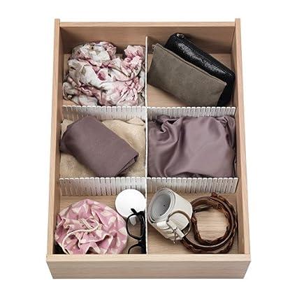 IKEA HOFTA - Divisor de cajón, blanco / 3 pack / 3 pack - 55x10