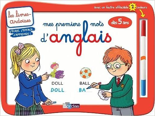 4ac1c36aac9 Amazon.fr - Livres-ardoises - Mes premiers mots d anglais + 1 feutre 2  couleurs - Collectif - Livres