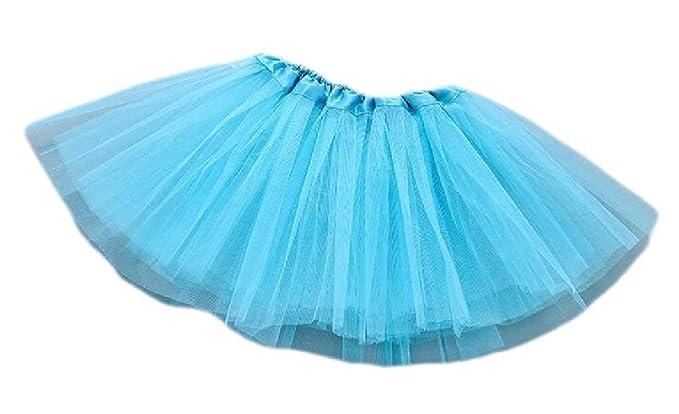 H&E Faldas tutú de Tul Acampanadas para niñas Azul Azul Claro ...