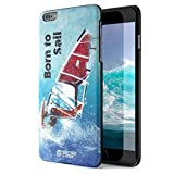 iPhone 6 Plus Case, Born For Windsurfing. Sensocase Premium Extreme Sports Unique Designer Tough Shell Thin Cover. Luxury, Anti-Fingerprint, Anti-Scratch Stylish Slim Protective Apple Phone 6S Cases.