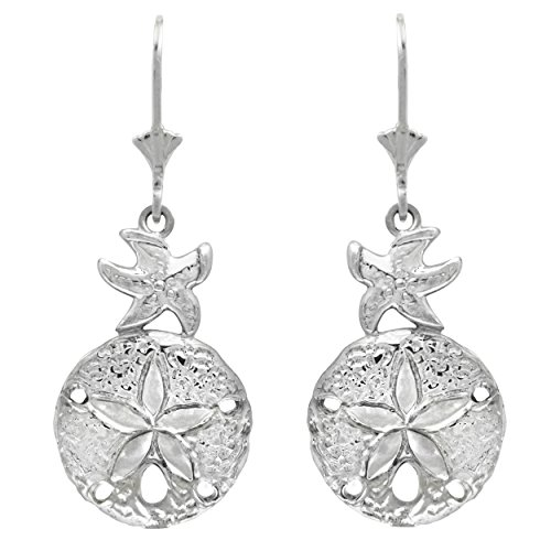 Sterling Silver Starfish Leverback Earrings