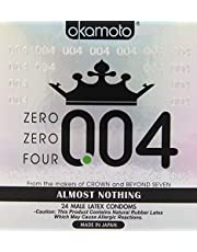 OKAMOTO 004 Condoms, 24 count, White, 4738