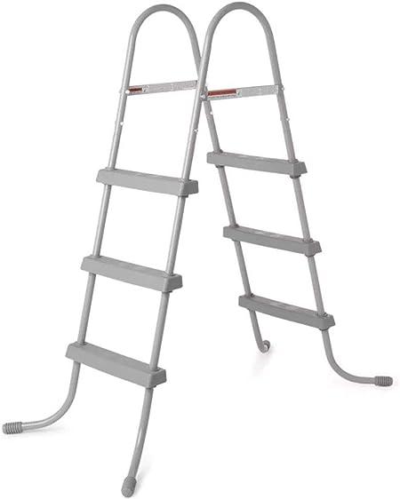 Bestway 58334E escalera para alberca de 36 pulgadas de acero sobre el suelo, escalera antideslizante: Amazon.es: Jardín