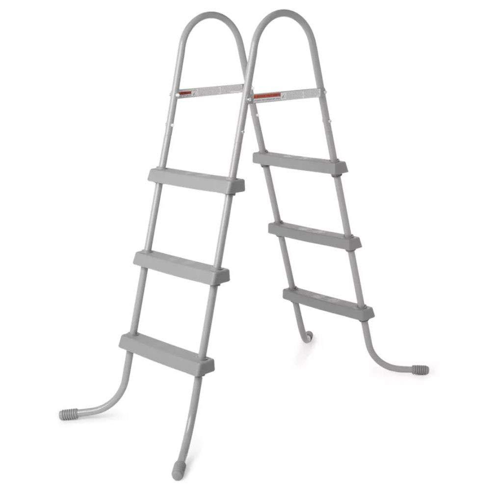 Bestway 58334E 36-Inch Steel Above Ground Swimming Pool Ladder No-Slip Steps by Bestway