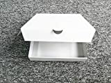 "8"" Premium White Corrugated Pizza Boxes Take Out"