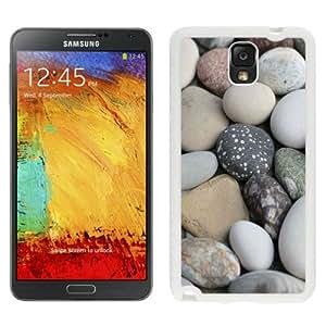 NEW Unique Custom Designed Samsung Galaxy Note 3 N900A N900V N900P N900T Phone Case With Soft White Beach Rocks_White Phone Case