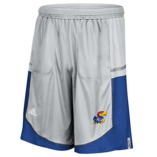 Shorts Jayhawks Kansas Adidas (adidas NCAA Kansas Jayhawks Men's Sideline Climalite Player Shorts, Small, Gray)