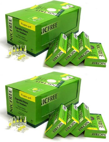 Nicfree Cigarette Filters For Smokers - 40 Packs by Nicfree