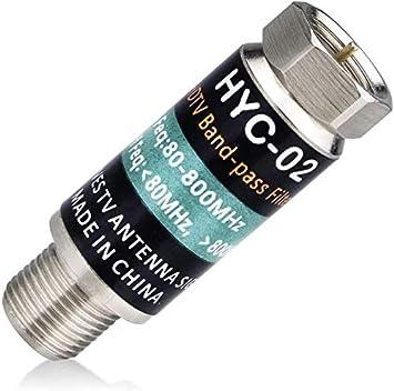 Filtro LTE para antena de TV, mejora las señales de antena de televisión digital, filtro de 4 G, reduce la interferencia de las torres de teléfonos ...