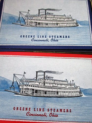 Greene Line Steamers Cincinnati Ohio 2 Decks of Playing - Ohio Greene The