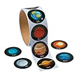 """100 ~ Solar System / Planets Stickers ~ 1.5"""" ~ New / Shrink-wrapped"""