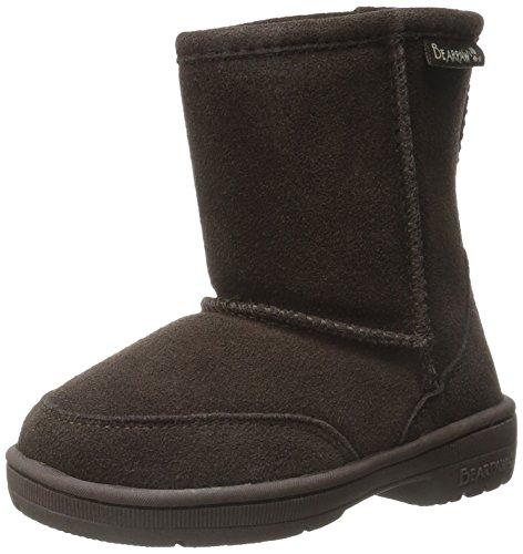 BEARPAW Kids Meadow Toddler Boot, Chocolate II, 7 M US Toddler