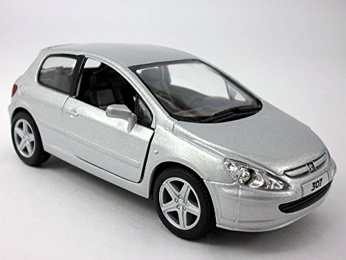 - 5 inch - 2001 Peugeot 307 XLI 1/32 Scale Diecast Model - SILVER