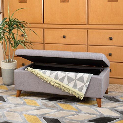 Etoney Mid Century Modern Fabric Storage Ottoman (Light - Modern Storage Ottoman