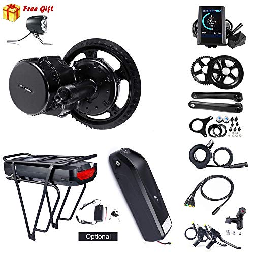 BAFANG 8fun Mid Drive Crank Motor 48v 750w 25A BBS02 Electric Bike Conversion Kit (46T, 850C)