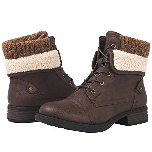 GLOBALWIN 1815 Women's Ankle Fashion Boots (7 M US Women's, 1815 Brown)