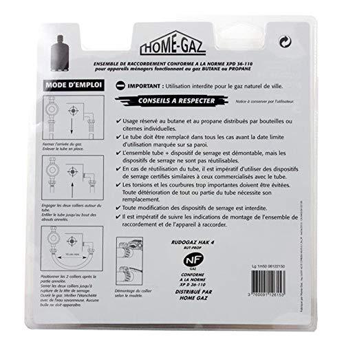 Kit de conexión Gas manguera + adaptador tetina + empalmes para réchauds y Barbecues de gas: Amazon.es: Jardín