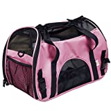 Super buy Large Pet Carrier OxFord Soft Sided Cat/Dog Comfort Travel Tote Shoulder Bag (Pink) by Super buy