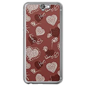 Loud Universe HTC One A9 Love Valentine Printing Files Valentine 19 Printed Transparent Edge Case - Red