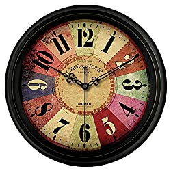 YAOJIA Wall Clock Non Ticking Silent Non Ticking Big Number Display Easy to Read Battery Operated(not Included) for Home/Kitchen/Office/School Clock ~ (Color : C, Size : 16 Inch)