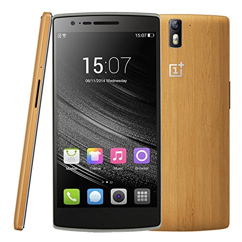 OnePlus One Bamboo Version FDD LTE 4G Unlocked Smartphone 5.5'' NFC OTG Android 4.4 RAM 3GB+64GB 13MP+5MP Air Gesture Qualcomm Snapdragon 801 Quad Core 2.5GHz FDD-LTE & WCDMA & GSM (Bamboo 64GB)