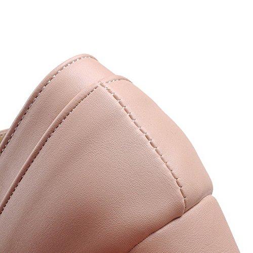 Rond Boucle L Femme Pu Couleur Unie Agoolar Chaussures Cuir OIqqS