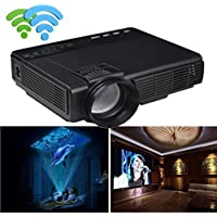 Elevin(TM) 1000 Lumens LED Projector Home Theater USB TV 3D HD 1080P Business VGA/HDMI