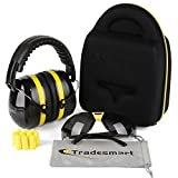 Tradesmart Ear Muffs, Case, Earplugs and Adjustable Gun Safety Glasses (1pk Tint)