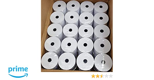 Rollos térmicos premium de 80 x 80 mm para impresoras térmicas 20 ...
