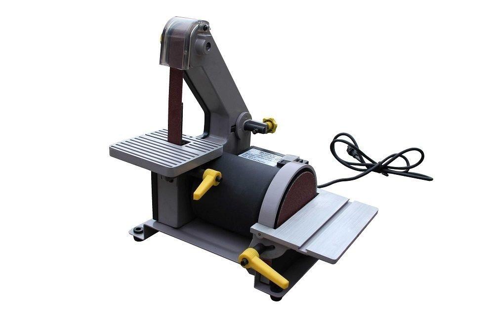 "GHP 110V 1"" W x 30""L Belt and 5'' Disc Sander Tabletop Woodwork Equipment"