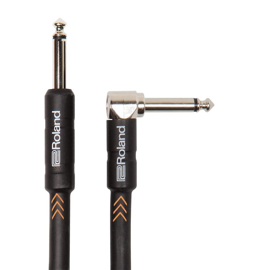 Cavo per strumenti Roland Black Series - 1,5m/5ft, spina angolo retto/dritta da 1/4' - RIC-B5A spina angolo retto/dritta da 1/4 - RIC-B5A 210090099