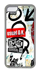 iPhone 5C Cases & Covers -Street Wall Custom TPU Soft Case Cover Protector for iPhone 5C ¨CTransparent