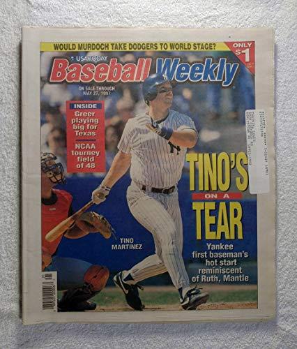 - Tino Martinez (New York Yankees) - Tino's on a Tear - Baseball Weekly Magazine - May 27, 1997