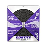 Permatite Dortite Natural Open Cell Rubber Gasketing Sponge, 50' Length x 1'' Width x 3/16'' Height, Black