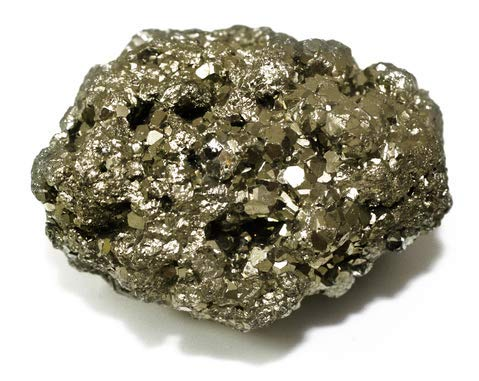 Fool's Gold Chunk 1.75-2.25 Inch Pyrite Rock Gemstone w Info ()