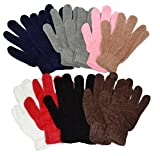 OPT Brand. 12 Pairs Wholesale Lot Adult Chenille Magic Gloves Unisex. USA Trademark Registered Code: 86522969.