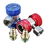 CynKen R134a AC Air Condition High Low Side Adjustable Quick Coupler Connector Adapter