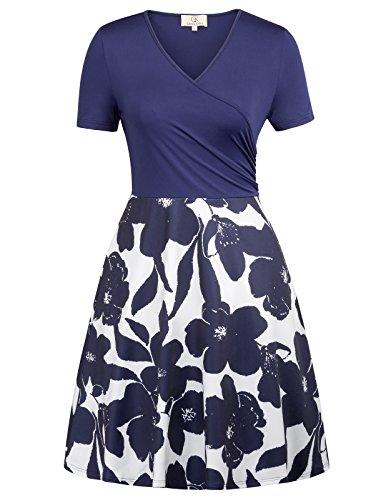GRACE KARIN Retro Knee Length Flowy Dresses for Women Girls Size XL CL623-3