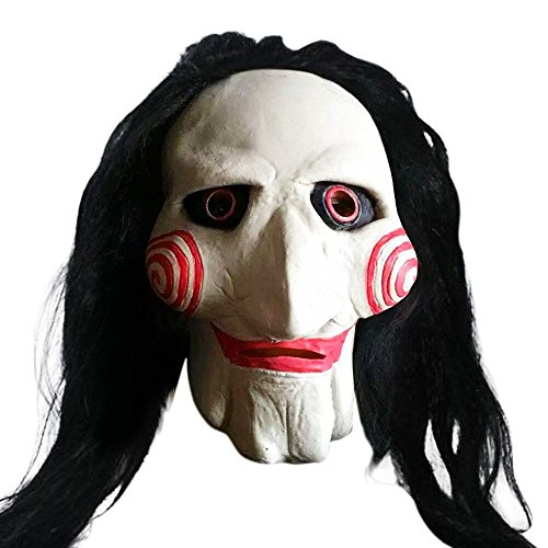 [Han Shi Zomibe Mask Latex Creepy Scary Ugly Mask Halloween Party Costume for Adults] (Zipper Fx Kit)
