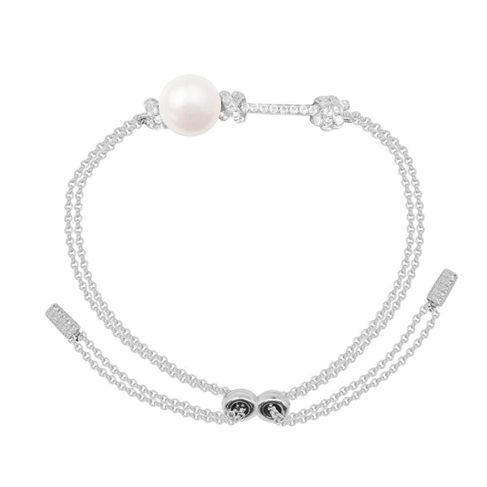 ダイヤモンドパールブレスレットの女性のギフトが付いているLiudayeヨーロッパおよびアメリカの真珠のブレスレット   B07G85843S