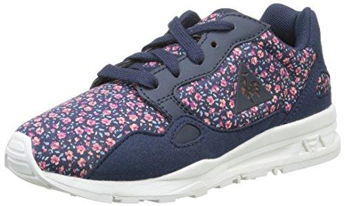 Le Coq Sportif Unisex-Kinder Lcs R900 Gs Flowers Sneaker Blau - Bleu (Dress Blue)