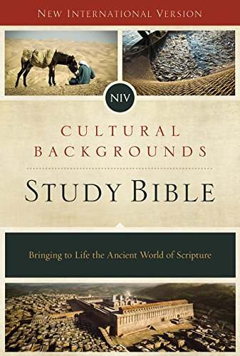 NIV Cultural Backgrounds Study Bible: Bringing to Life the Ancient World of Scripture  -