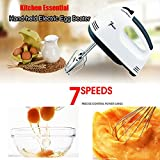 Electric Egg Beater Hand Held 7 Speeds Roasting Appliances Egg Mixer Kitchen Baking Tools
