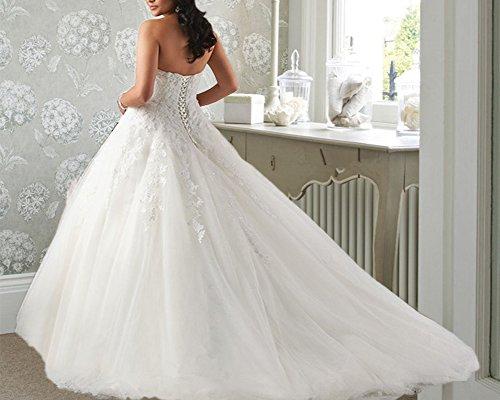 Taille Plus « Femmes Dreamdress Tulle Robes De Mariée En Dentelle Robe De Mariée Blanche