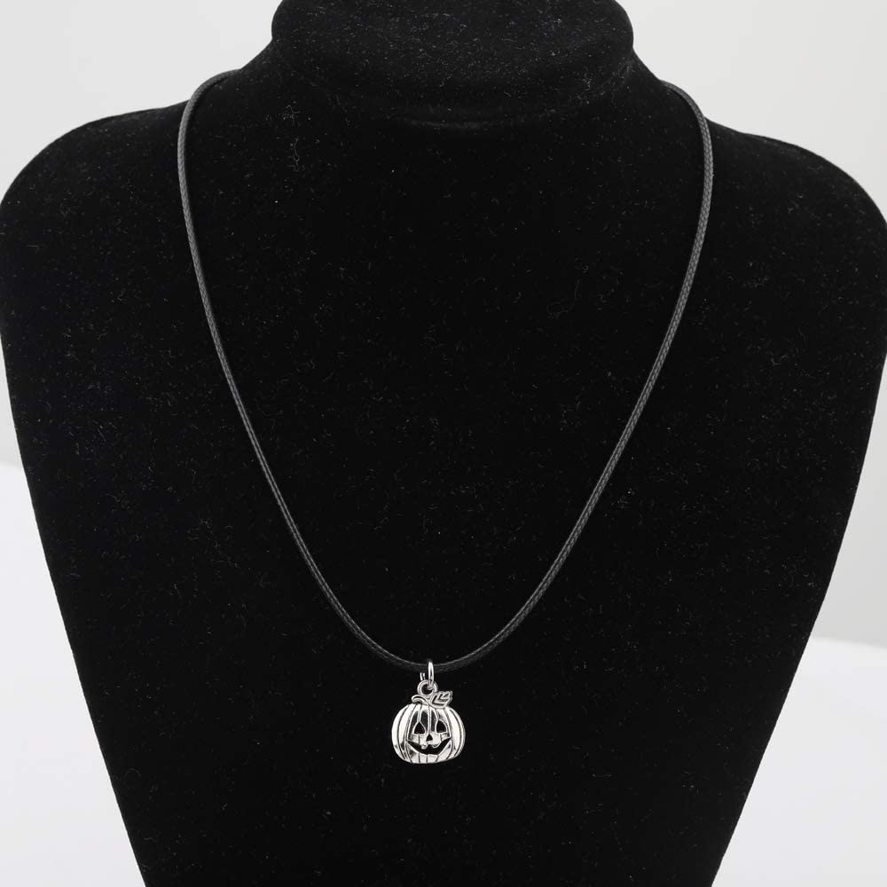 Pumpkin Choker Necklace Fashion Halloween Black Raven Vintage Punk Necklace Halloween Party Gift