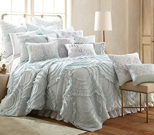 Levtex Layla Spa Full/Queen Cotton Quilt Set, Ruched (Layla Pillow Sham)