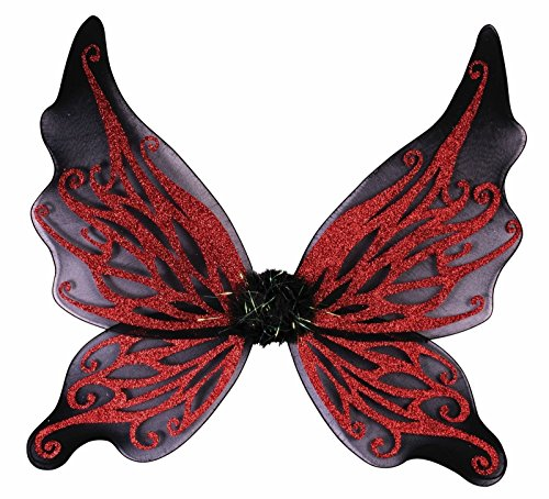 (Forum Novelties, 74725 Costume Women's Glitter Wings, Red/Black, Onesize,)