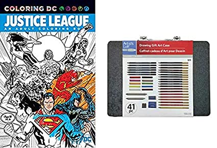 Amazon Com Dc Justice League Adult Coloring Book With