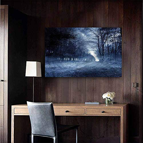Gabriesl Wall Mural Wallpaper Stickers Halloween Ghostly Haunted Forest Kitchen Room Wall Size : W36 x H24]()